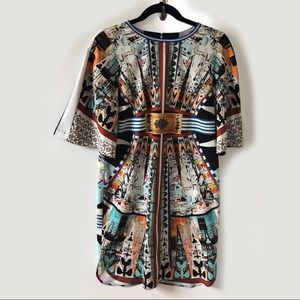 Clover Canyon Abstract Patterned Shift Dress - L